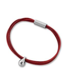 Askesmykke vedhæng charm læder rød