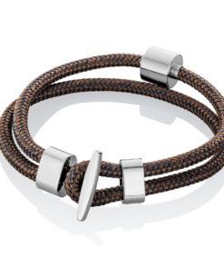 Askesmykke armbånd cord brun navy