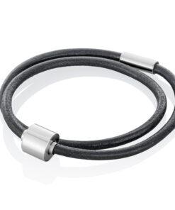Askesmykke armbånd læder sort