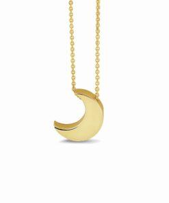 Guld måne vedhæng halskæde