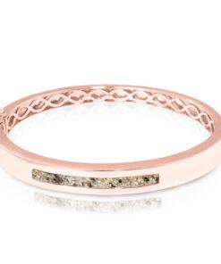 Personlig armbånd i rosaguld - aske smykke