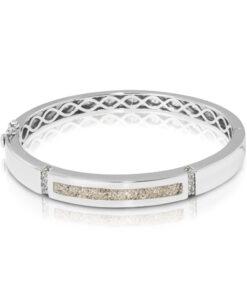 Personlig armbånd i sølv med zirkonia - aske smykke